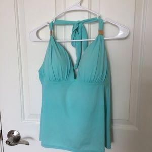 Victoria's Secret Aqua  Tankini Swim Top
